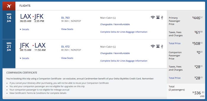 How to use the Delta companion certificate from the SkyMiles ...